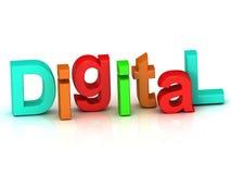 Lettera luminosa del volume dell'iscrizione di Digital Immagini Stock