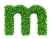 Lettera m. dell'erba verde Fotografie Stock