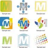 Lettera m. Logo Fotografie Stock Libere da Diritti