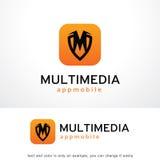 Lettera m. Shield Logo Template Design Vector, emblema, concetto di progetto, simbolo creativo, icona Fotografie Stock Libere da Diritti