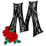 Lettera maiuscola elegante m. nello stile dello scarabocchio per usare i monogrammi, il logos, gli emblemi e le iniziali royalty illustrazione gratis