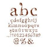 Lettera minuscola di alfabeto del cioccolato Fotografia Stock Libera da Diritti