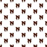 Lettera N dall'alfabeto latino fatto di cioccolato illustrazione di stock