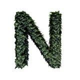 Lettera N verde del fogliame illustrazione vettoriale