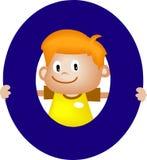 Lettera O (ragazzo) di alfabeto illustrazione di stock