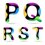 Lettera P Q R S T Fotografia Stock