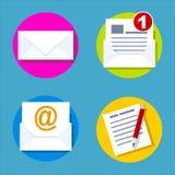 Lettera piana delle icone Fotografie Stock