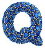lettera Q del diamante 3D su bianco isolato Fotografia Stock Libera da Diritti