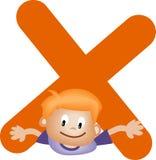 Lettera X (ragazzo) di alfabeto illustrazione vettoriale