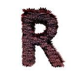 Lettera rosso scuro R del fogliame illustrazione vettoriale