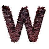 Lettera rosso scuro W del fogliame illustrazione vettoriale