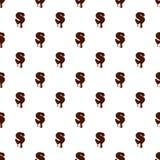 Lettera S dall'alfabeto latino fatto di cioccolato royalty illustrazione gratis
