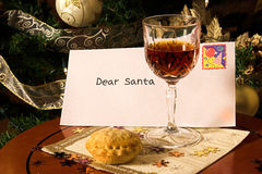 Lettera a Santa Fotografie Stock