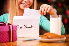 Lettera a Santa Immagini Stock