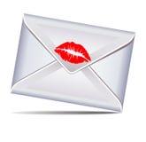 Lettera sigillata con un bacio illustrazione vettoriale