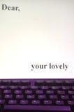 Lettera sul calcolatore Fotografia Stock