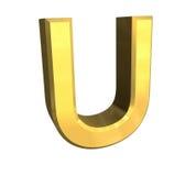 Lettera U dell'oro 3d royalty illustrazione gratis