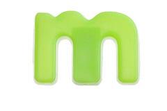 Lettera verde m. fotografia stock libera da diritti