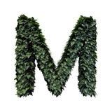 Lettera verde m. del fogliame illustrazione vettoriale