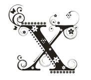 Lettera X illustrazione di stock