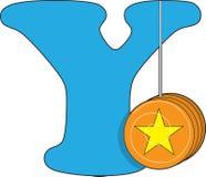 Lettera Y con un yo-yo illustrazione di stock