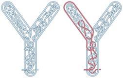 Lettera Y del labirinto Immagine Stock Libera da Diritti