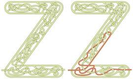 Lettera Z del labirinto Fotografia Stock