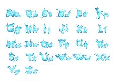 Lettera A - Z dell'acqua di alfabeto royalty illustrazione gratis