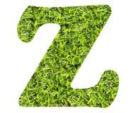 Lettera Z - fondo artificiale dell'erba verde Vista superiore illustrazione vettoriale