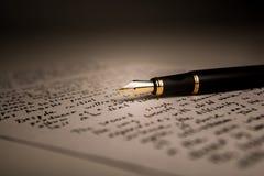 Letteratura della penna stilografica Immagine Stock