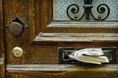 letterbox παλαιός Στοκ Εικόνες