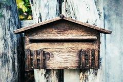 木letterbox 免版税库存照片