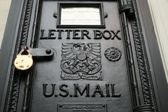 A Letterbox. An old-fashioned letterbox Stock Images