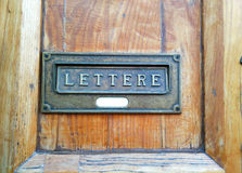 letterbox Imagens de Stock Royalty Free