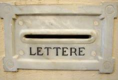 Letterbox antiguo fotografía de archivo