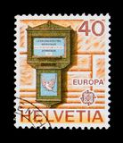 Letterbox of Basel 1845, Europa C.E.P.T. serie, circa 1979 Stock Photography