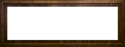 Letterbox wooden frame with blank text space Stock Image
