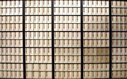 Letterboxes horizontales de los rectángulos de la oficina de correos del cuadro Fotografía de archivo libre de regalías