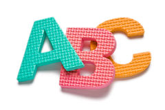 Letterc ABC. Isolated on the white background stock photography