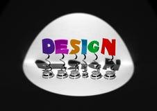 lettere 3D sulla sorgente, wor evidenziato e colorato Fotografia Stock Libera da Diritti