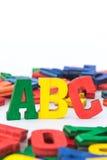 Lettere: ABC II immagine stock libera da diritti