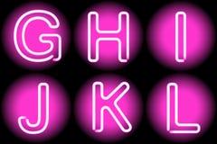 Lettere al neon illustrazione vettoriale