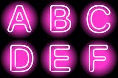 Lettere al neon illustrazione di stock