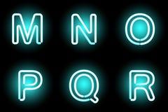 Lettere al neon Fotografie Stock