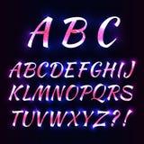 Lettere al neon di alfabeto Immagini Stock Libere da Diritti