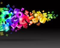 Lettere astratte del Rainbow Fotografia Stock Libera da Diritti