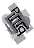 Lettere in bianco e nero Immagini Stock