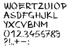Lettere calligrafiche Fotografia Stock Libera da Diritti