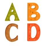 Lettere colorate dell'alfabeto latino illustrazione vettoriale