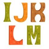 Lettere colorate dell'alfabeto latino royalty illustrazione gratis